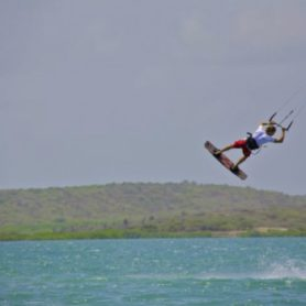 Kite surfing on St. Joris Bay