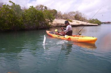 Kayak fishing adventure Curacao